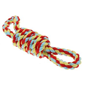 Happy Pet Twisttee Recycled Cotton Coil Tugger With Handles
