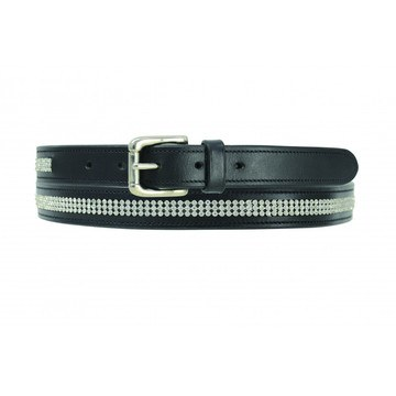 Hy Crystal Diamante Leather Belt