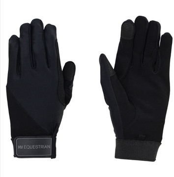 Hy Equestrian Black Absolute Fit Riding Glove