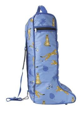 Hy Equestrian Chico the Cheetah Boot Bag Blue & Gold