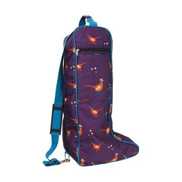 Hy Equestrian Multi-Coloured Patrick the Pheasant Boot Bag