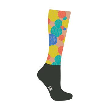 HyFASHION Spot the Horseshoe Pattern Riding Socks