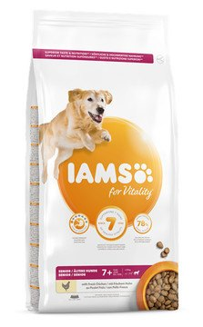 IAMS for Vitality Senior Large Breed Dog Food with Fresh Chicken