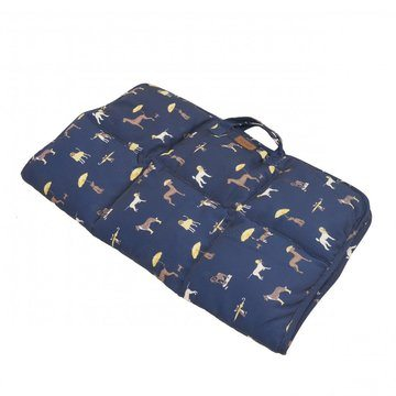 Joules For Pets On The Go Travel Mat Its Raining Dogs Print
