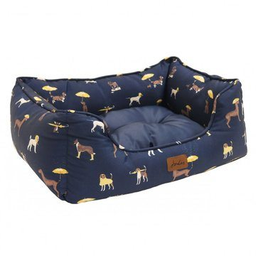 Joules Let Sleeping Dogs Lie Box Bed Its Raining Dogs Print