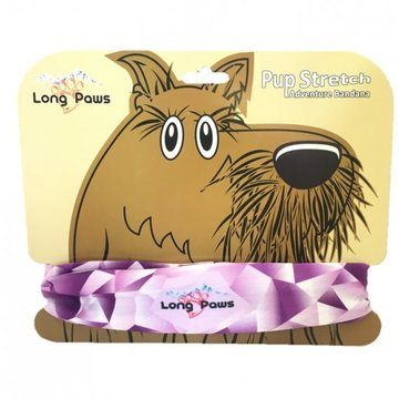 Long Paws Dog Bandana Purple Geo