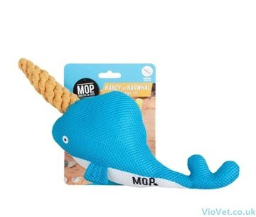 Ministry Of Pets Nancy The Narwhal Plush Dog Toy