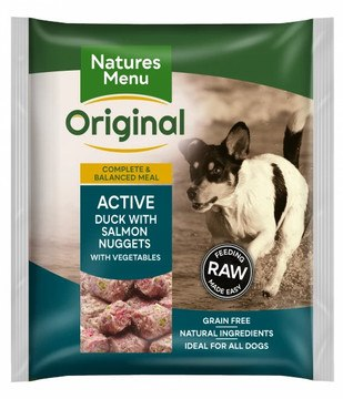 Natures Menu Active Dog Frozen Bite Size Nuggets