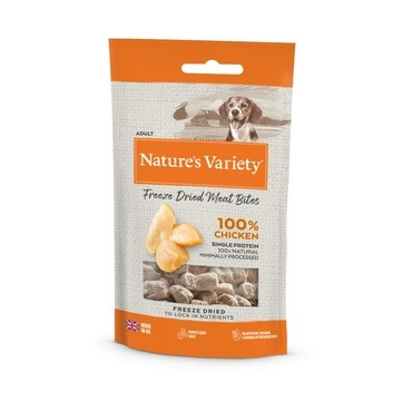 Nature's Variety Freeze Dried Chicken Meat Bites Dog Treats