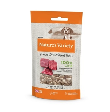 Nature's Variety Freeze Dried Lamb Meat Bites Dog Treats