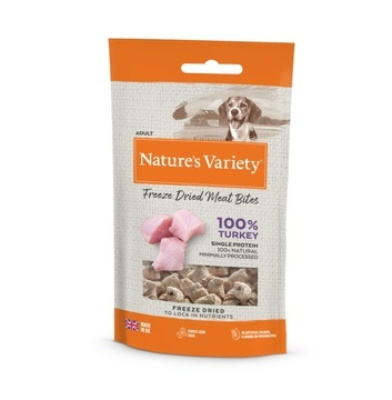 Nature's Variety Freeze Dried Turkey Meat Bites Dog Treats