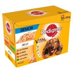 Pedigree Senior Complete Dog Food Pouches