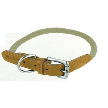 Pet Brands Hound Real Leather Braided Dog Lead