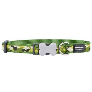 Red Dingo Camouflage Green Dog Collar