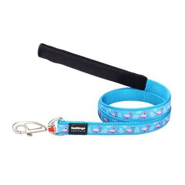 Red Dingo Turquoise Flamingo Dog Lead