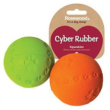 Rosewood Cyber Rubber Squeak Ball
