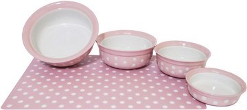 Rosewood Pink Polka Dot Feeding Accessories