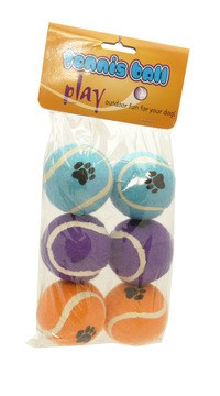 Rosewood Assorted Tennis Balls Dog Toys
