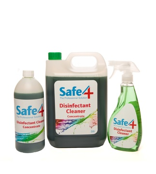 Safe4 Disinfectant Solution