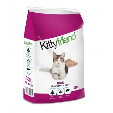Sanicat Kittyfriend Pink Non-Clumping Cat Litter