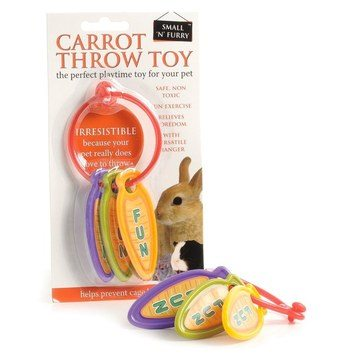 Small 'N' Furry Carrot Throw Toy for Small Animals