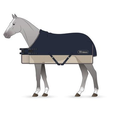 Whitaker Fairburn Navy & Stone Water Resistant Fly Rug