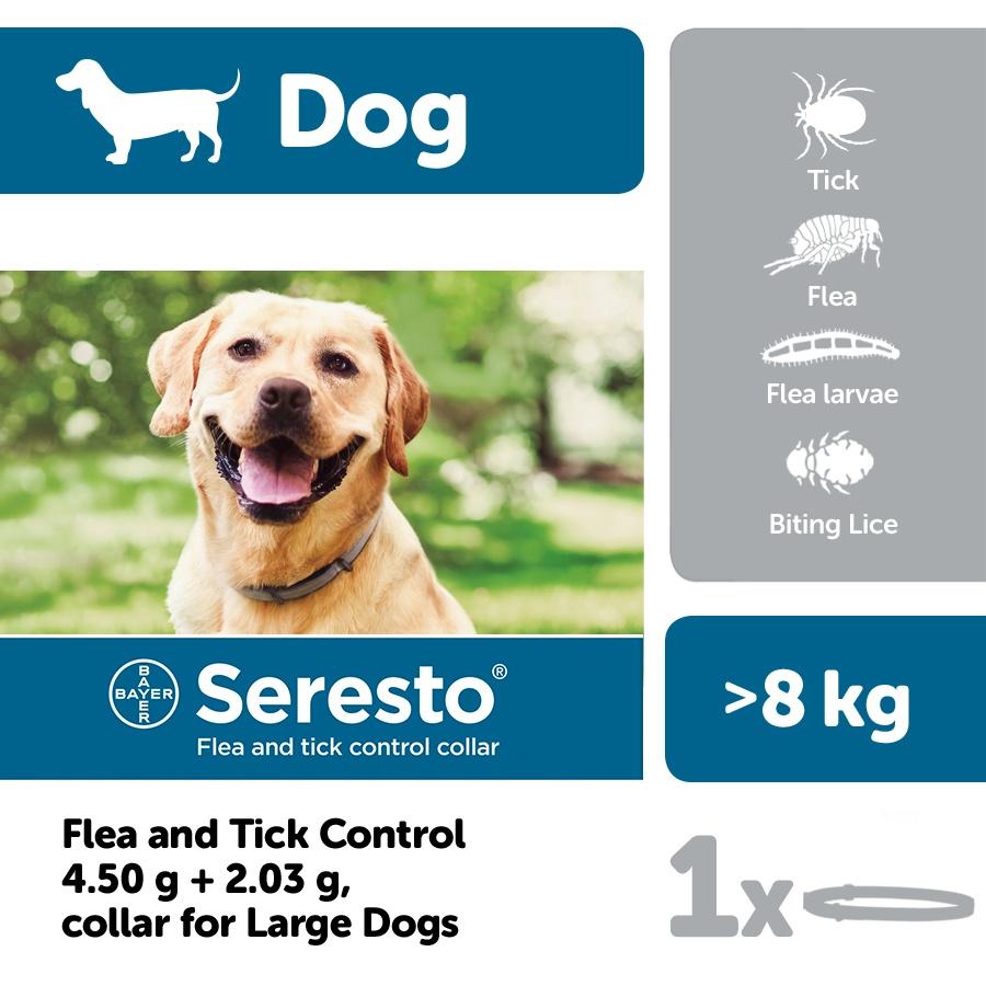 Seresto Flea Tick Control Collar Dogs Over 8kg Viovet Co Uk
