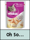 Whiskas Oh So Adult Pouches Cat Food