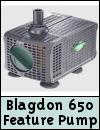 Blagdon 650 Auto Shut Off Water Feature Pump
