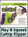 James & Steel Play N Squeak Catnip Flipper Cat Toy
