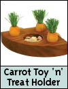 Boredom Breaker Carrot Toy 'n' Treat Holder for Small Animals