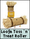 Boredom Breaker Loofa Toss 'n' Treat Roller for Small Animals