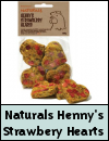 Naturals Henny's Strawberry Hearts Chicken Treats