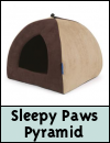 Sleepy Paws Timberwolf Pyramid Bed