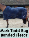 Mark Todd Bonded Fleece Rug Navy Plaid