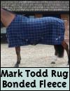 Mark Todd Bonded Fleece Rug Navy Plaid