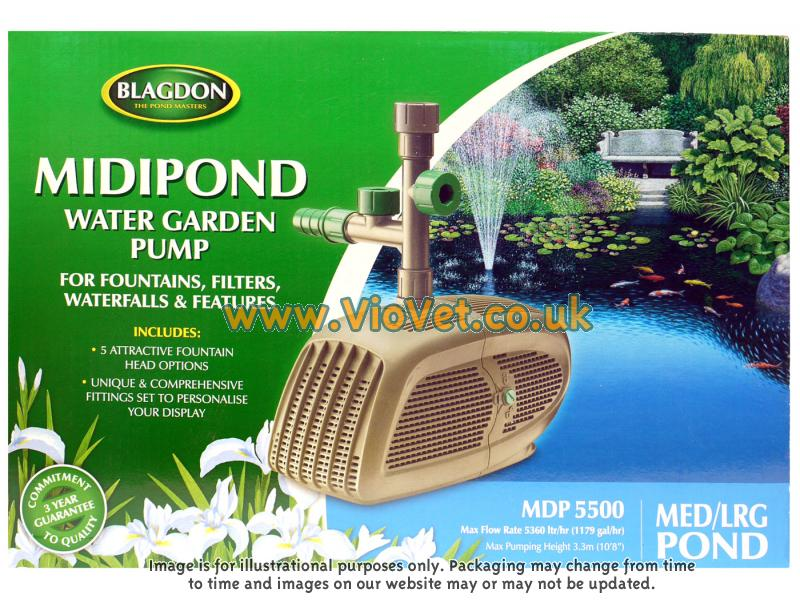 Interpet midipond blagdon midi pond water garden pump for What size pond pump do i need