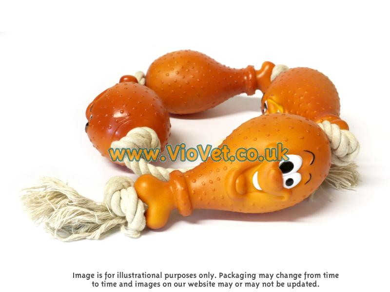 Classic Chicken Leg Rope And Vinyl Dog Toy