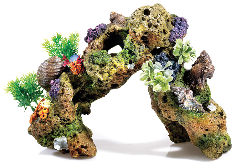 Large Lava Rock With Plants and Air » 32cm