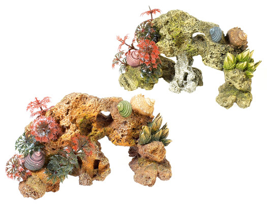 Stone And Coral With Plants » 20cm
