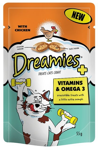 Plus Vitamins & Omega 3 with Chicken » 55g Bag