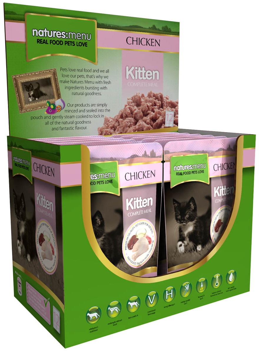 Kitten Chicken Wet » 12 x 100g Pouches
