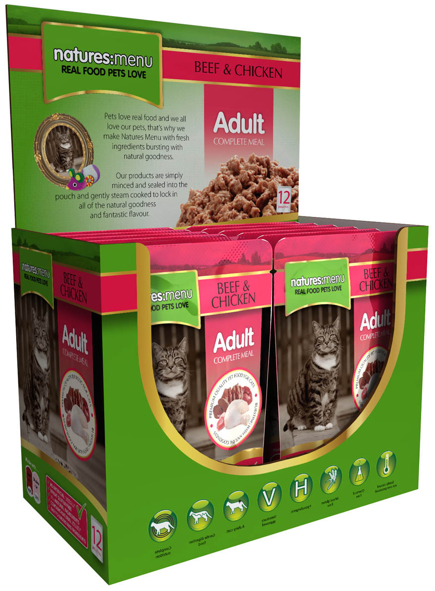 Adult Beef & Chicken Wet » 12 x 100g Pouches