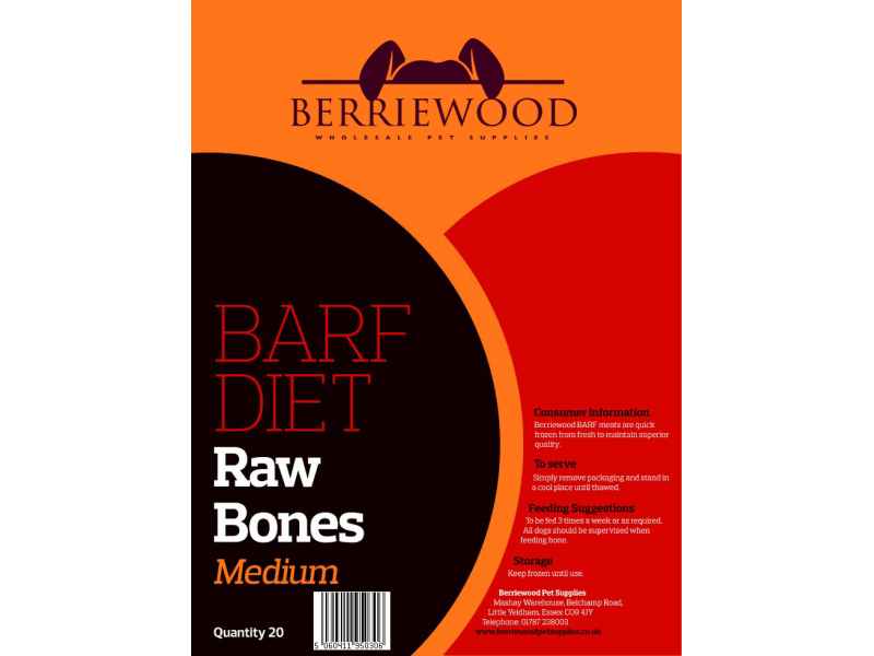 Raw Bones Medium » Pack of 20