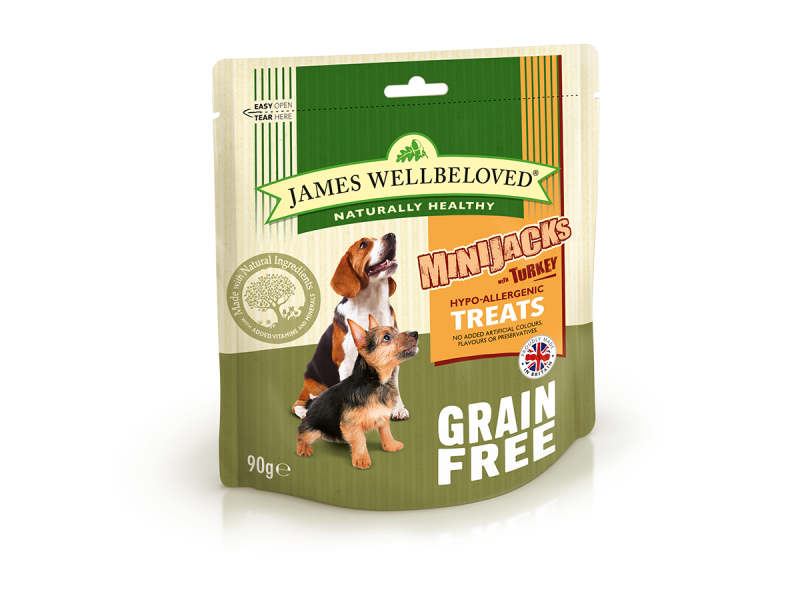 Grain Free Turkey & Veg Dry » 90g Bag