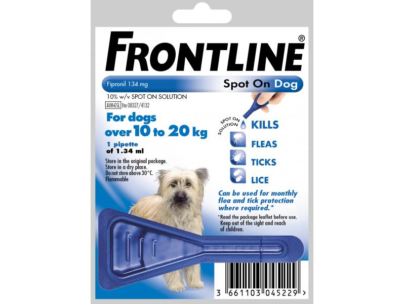 Giving Dog Cat Dose Of Frontline