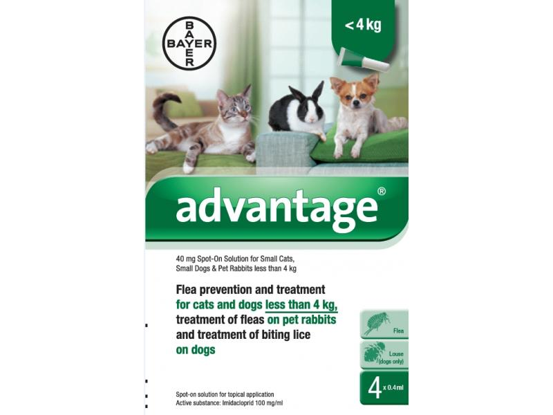 40 Cats/Dogs/Rabbits Up To 4kg » 4 Pipettes