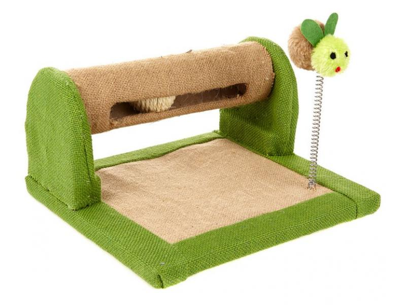Fabric Scratcher with Ball & Spring