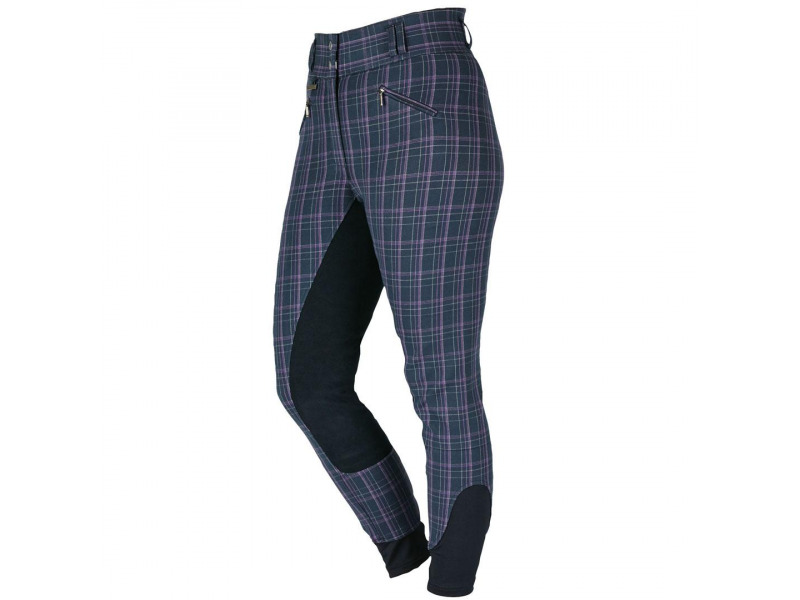 Navy/Berry Plaid » Size 8/26 inch
