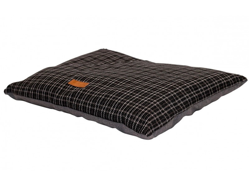 Ascot » Cushion Bed » Black Tweed » Large